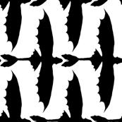 Toothless Black on White