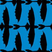 Toothless Black on Blue