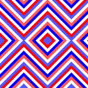 Red White Blue Diamond Chevron