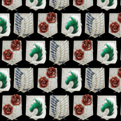 Attack on Titan Military Crests Black