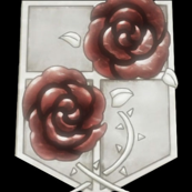Attack on Titan Garrison Crest Black