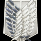 Attack on Titan Survey Corps. Crest Black