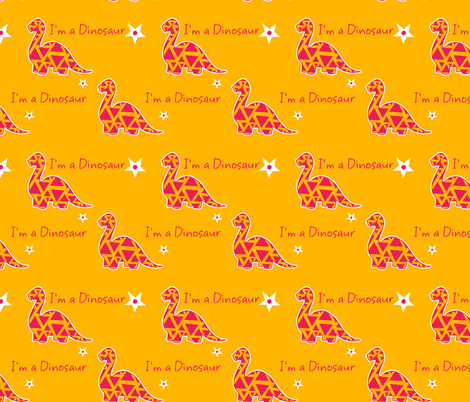 I'm a dinosaur fabric by archy on Spoonflower - custom fabric