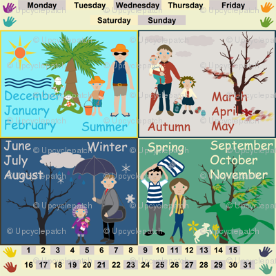 Seasons, Months, Days Decal
