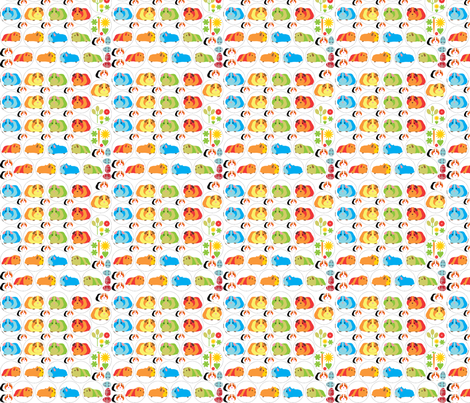 Guinea Pig Badges fabric by upcyclepatch on Spoonflower - custom fabric