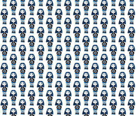 Blue Rock It Roller Derby Dolls fabric by derbymom716 on Spoonflower - custom fabric