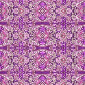 Purple Paisley Circles