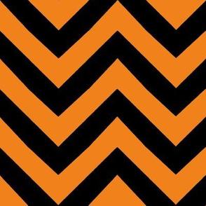 orange halloween chevron