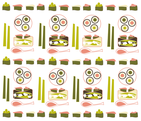 SOOBLOO_SUSHI instead of Dim Sum fabric by soobloo on Spoonflower - custom fabric