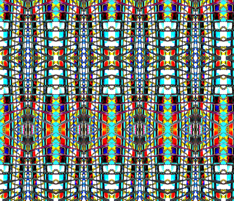 Skyscraper Windows 2 fabric by robin_rice on Spoonflower - custom fabric