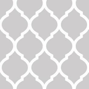 Gray Moroccan Lattice