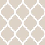 Linen Beige Moroccan Lattice