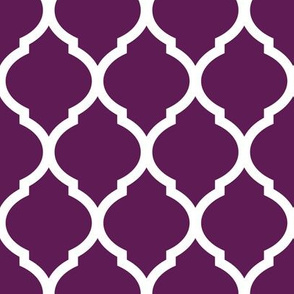 Plum Purple Moroccan Lattice