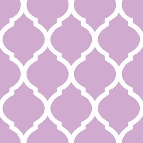 Lilac Purple Moroccan Lattice