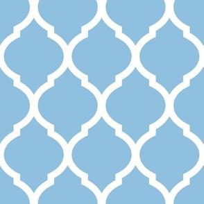 Sky Blue Moroccan Lattice