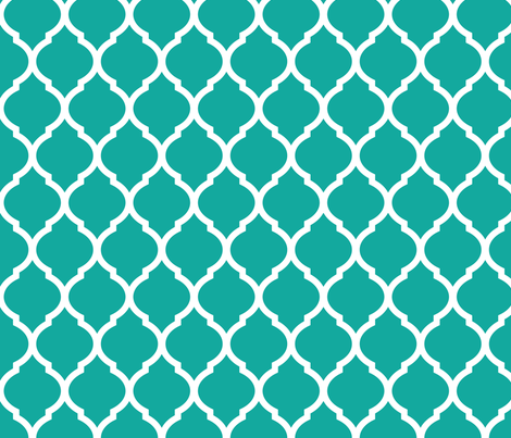 Teal Moroccan Lattice fabric by sweetzoeshop on Spoonflower - custom fabric