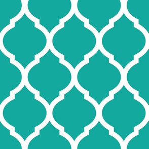 Teal Moroccan Lattice
