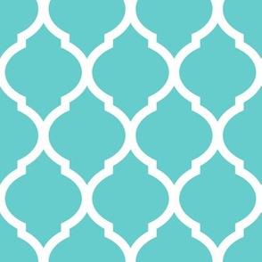 Turquoise Moroccan Lattice