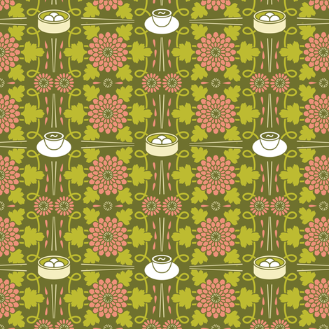 Tea and Dumplings fabric by robyriker on Spoonflower - custom fabric