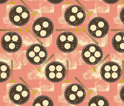 Dim Sum fabric by owlandchickadee on Spoonflower - custom fabric