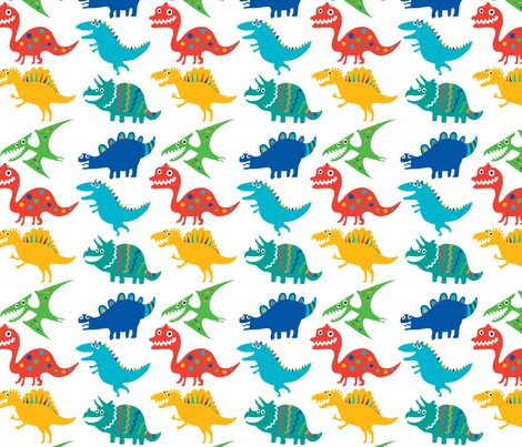 Dinosaur Cuties fabric by andibird on Spoonflower - custom fabric