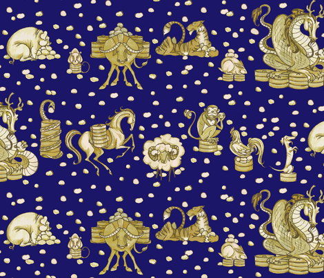 P l the deep deep depths ceanirminger spoonflower for Astrology fabric