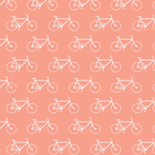 Coral & White Bicycle