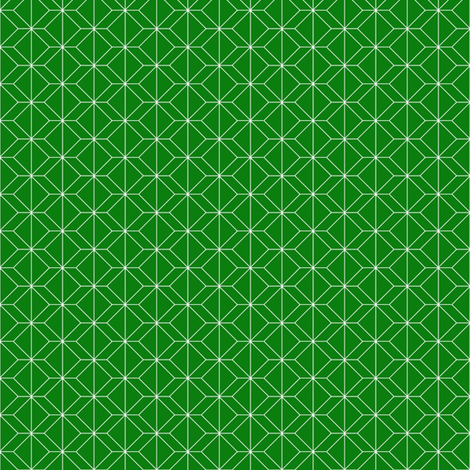 Small geometry emerald fabric by ninaribena on Spoonflower - custom fabric
