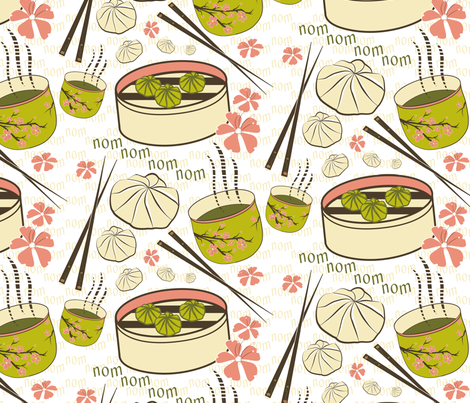 Dim Sum fabric by jstemps on Spoonflower - custom fabric