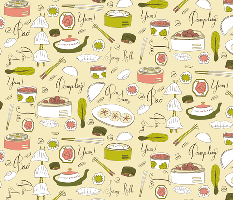 Dreaming of Dim Sum fabric by sarahehlinger on Spoonflower - custom fabric