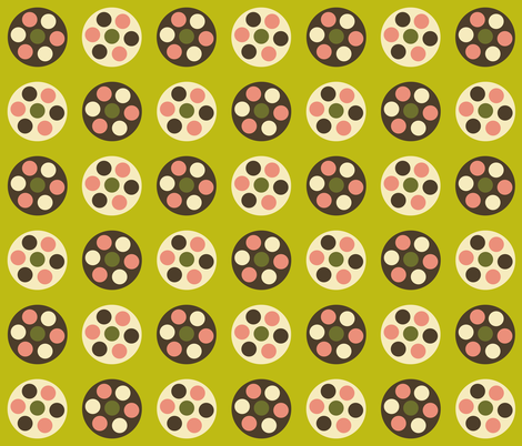 Dim Sum Polka fabric by smuk on Spoonflower - custom fabric