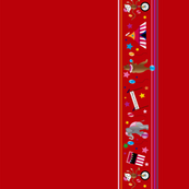 Big Top Circus Border in Red