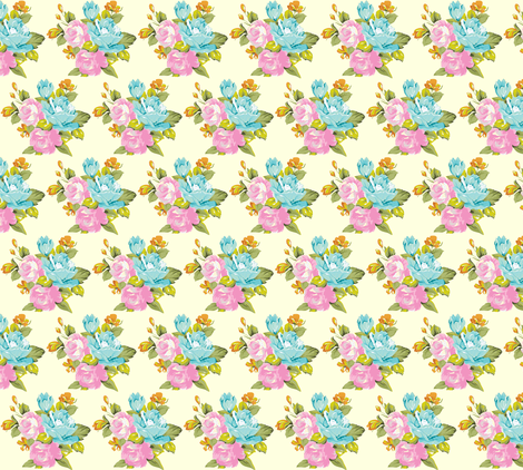 spring vintage floral multi  fabric by sandeeroyalty on Spoonflower - custom fabric