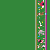 Big Top Circus Border in Green