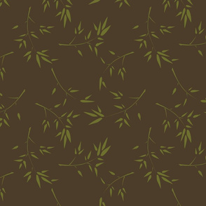 Bamboo Branches Dark Brown