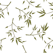 Bamboo Branches White