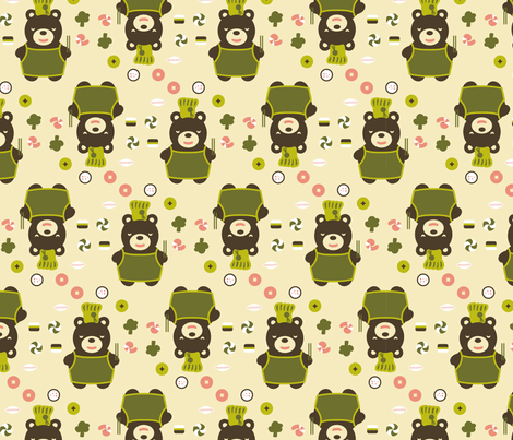 Dim Sum Yogi fabric by arrix on Spoonflower - custom fabric