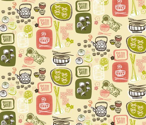 Dim sum for all! fabric by gracemellow on Spoonflower - custom fabric