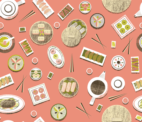 Dim Sum Party fabric by lsk235 on Spoonflower - custom fabric