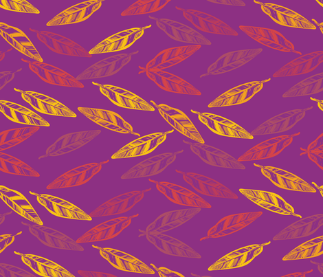 indiansummer_leaves_tea-03 fabric by luhaddad on Spoonflower - custom fabric
