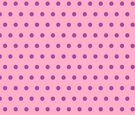Pink with Purple Polka Dots fabric by bobgreenwade on Spoonflower - custom fabric