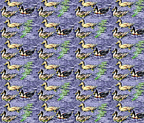 Ducks, Ducks, Ducks fabric by robin_rice on Spoonflower - custom fabric