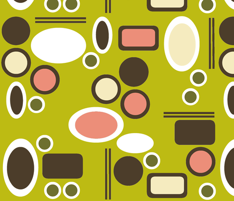 Dim Sum Retro Style 3 fabric by ms_majabird on Spoonflower - custom fabric