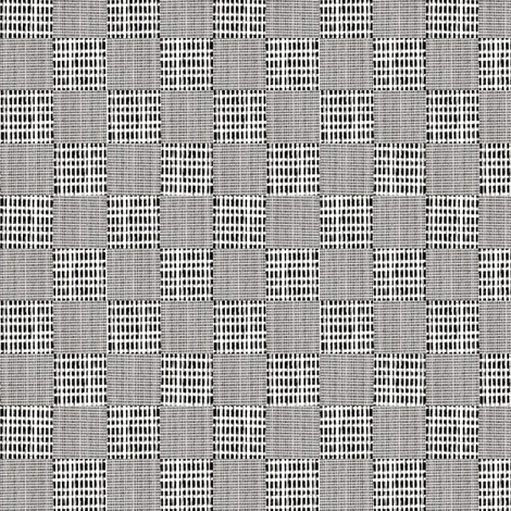 Check Weave - charcoal gray, white fabric by materialsgirl on Spoonflower - custom fabric