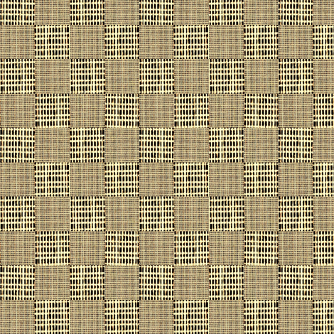 Check Weave - brown and buttermilk  fabric by materialsgirl on Spoonflower - custom fabric