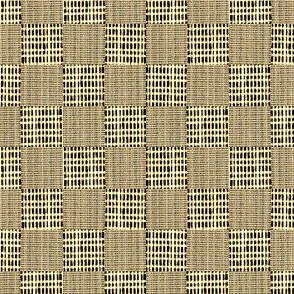 Check Weave - brown and buttermilk