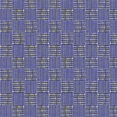 Check Weave - indigo  fabric by materialsgirl on Spoonflower - custom fabric