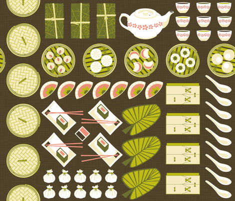 Julie's Dim Sum fabric by juliesfabrics on Spoonflower - custom fabric