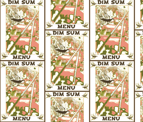 Dim Sum Menu fabric by krussimages on Spoonflower - custom fabric