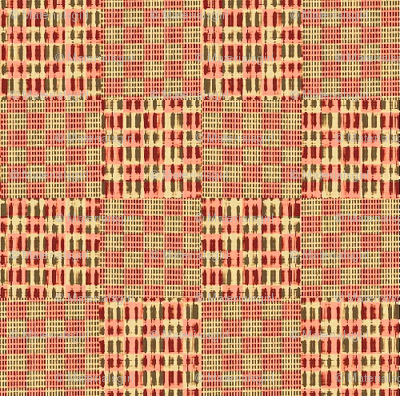 Check weave - pink, beige